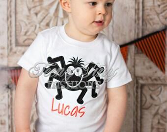 Boys Spider Shirt ~ Itsy Bitsy Spider Shirt ~ Halloween Spider Shirt ~ Boys Fall Shirt ~ Halloween Outfit ~ Baby First Halloween Shirt