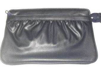 Vintage 70s Clutch Bag, Navy Blue