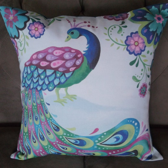 Peacock 16 X 16 Decorative Pillow Cover