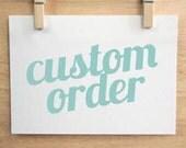 Custom Order for Kerri