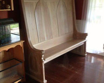 Oak Deacon's Bench (Free local delivery only, within 300 miles of Rydal, GA)