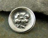 Blossom - Sterling Silver Shank Button - Perfect For Leather Wrap Bracelets - Artisan Sterling Silver Findings - sbb