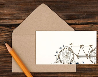 Tandem Bicycle Enclosure Gift Card