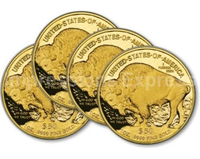 Gold Bullion Coin Coasters - Set of 4