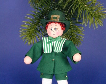 Irish Clothespin Doll Ornament