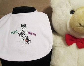 Embroidered Baby Bib- Itsy Bisty Spider Stack