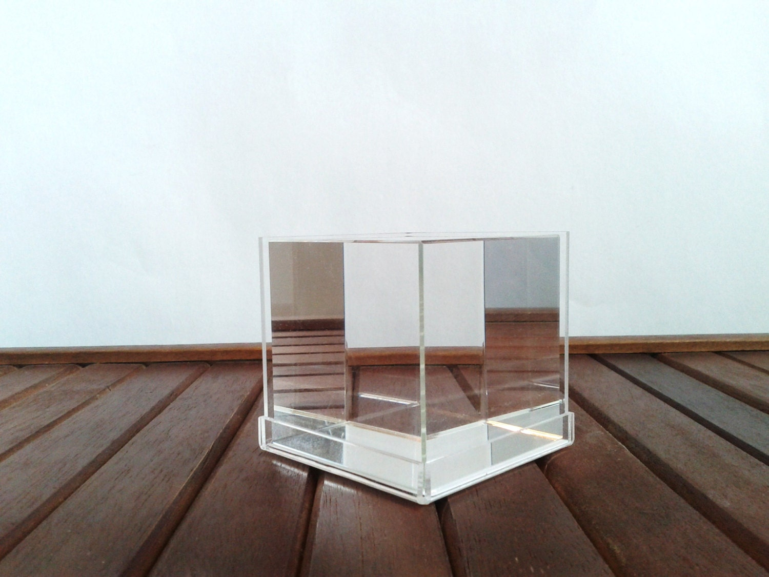 Sale Lucite Solid Clear Acrylic Cube Square Paperweight