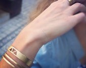 Triangle Bracelet-Geometry Collection-Handcrafted Gold Plated Brass