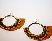 Africa Dashiki Ethiopian Wings Wrapped Tribal Earrings