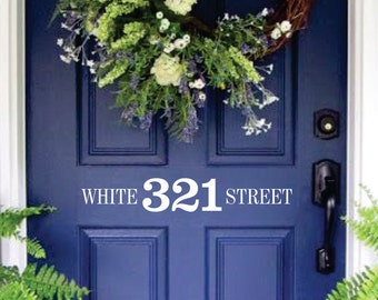 Front Door Address and Street Number wall decal Mailbox Decal - vinyl lettering address - mailbox or front door address vinyl lettering