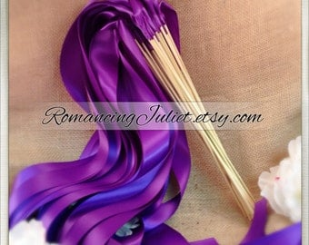 Instead of Rice Jumbo Ribbon Streamer Sticks..PACK OF 50...You choose the Ribbon Color..shown in royal purple