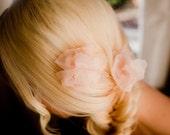 Hand curled organza hair pins