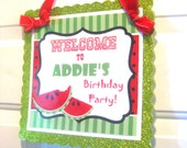 Custom Door Sign - Personalized BIrthday Baby Shower Wedding Welcome Glitter
