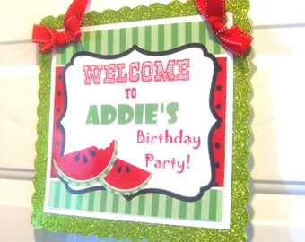 Birthday Door Sign, Custom Birthday Door Sign, Personalized Birthday Door Decor, Party Door Decor, Birthday Party Door Sign, Party Welcome