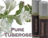 Fragrant Hawaiian Tuberose Perfume Oil, Roll-On Glass Bottle