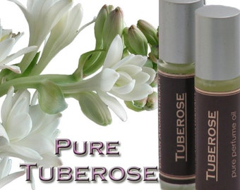Fragrant Hawaiian Tuberose Perfume Oil, Roll-On Glass Bottle
