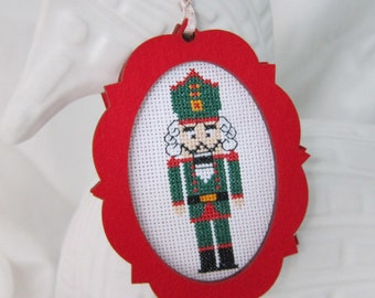 DIY Nutcracker Ornament Kit, Christmas Ornament, Nutcracker Kit, Cross Stitch Ornament DIY, Nutcracker Cross Stitch, Holiday Ornament