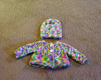 Hand Knitted - Multi Colored Hand Knitted Baby Sweater