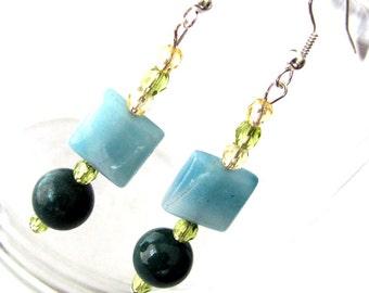 Charming Green Drop Earrings