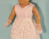 18 inch Doll Special Occasion Dress,  Shoes and Lace Gloves