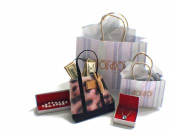 Miniature FrouFrou Shopping Bag