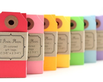 175 Parcel Gift Tags - Mix of Neon Bright colors