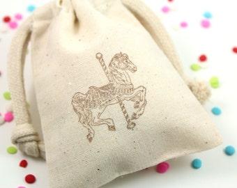 Carousel Horse Favor Bags - Set of 10