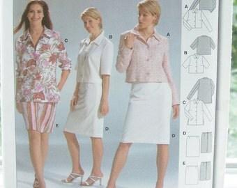 Burda Suit Pattern, 8333 Burda Sewing Pattern, Women's Career Wardrobe, Semi-Fitted Women's Skirt, Blouse, Plus Size 10 - 22 UNCUT Pattern