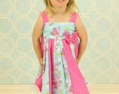 custom boutique dress made with abby cadabby fabric  size 2-6