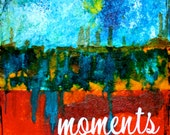 """Moments 5""""x7"""" Blank Greeting Card with Envelope, Blank Notecards, Art Cards, Abstract Art, Wholesale Cards, Wholesale Stationery"""