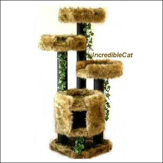 MODERN Cat TREE 5 High Copper Mt Best Cat Beds Designer