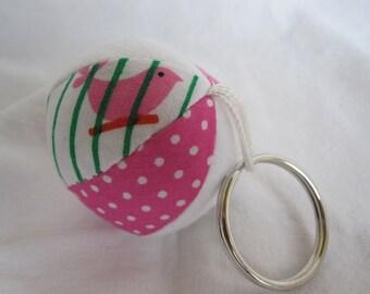 Birdcage Mini Jingle Ball Keychain