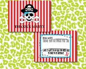 Instant DIY Pirate Ahoy Matey Thank You Birthday Fun Cards