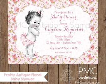 Custom Printed  Baby Shower Invitations - 1.00 each with envelope