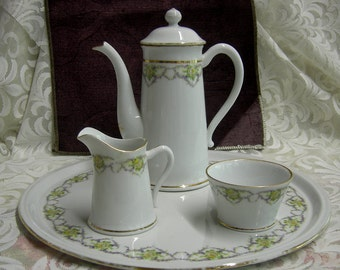Coffee Set - Four Piece Coffee Set - Circa 1900 - REDuCED