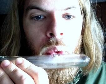 Flute with Three Holes - Handblown Glass