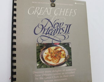 Great Chefs of New Orleans II Vintage Cookbook Famous Restaurant Spiral Cook Book Brennans Commanders Palace Creole Cajun Recipes