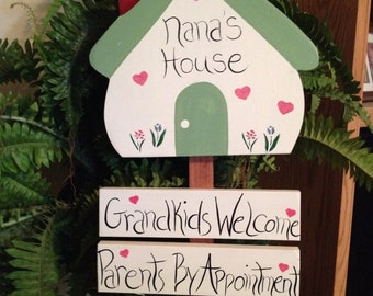 Grandkids Welcome  Parents by Appointment Garden Stake