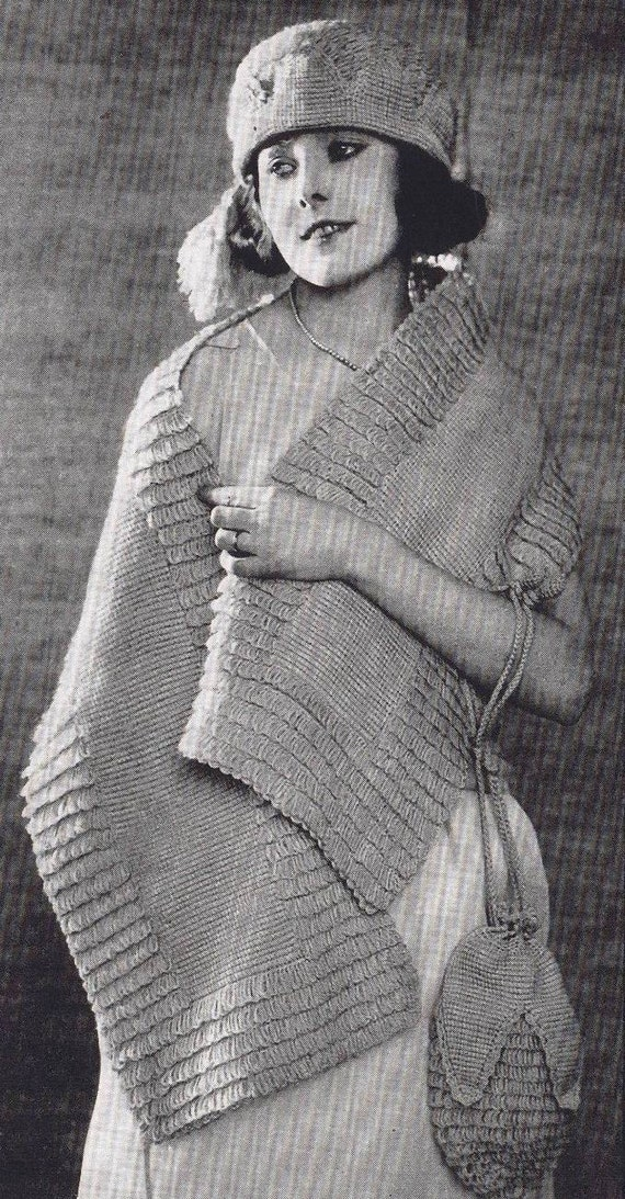 Vintage Knitting Patterns 1920s : Vintage Knitting Crochet Patterns 1920s Sweaters Scarves Hats Crocheted Lace ...