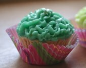 Mini Cupcake Soap - Bite Size Frilly Cupcakes - Realistic cupcake soap