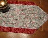 Christmas words Table Runner