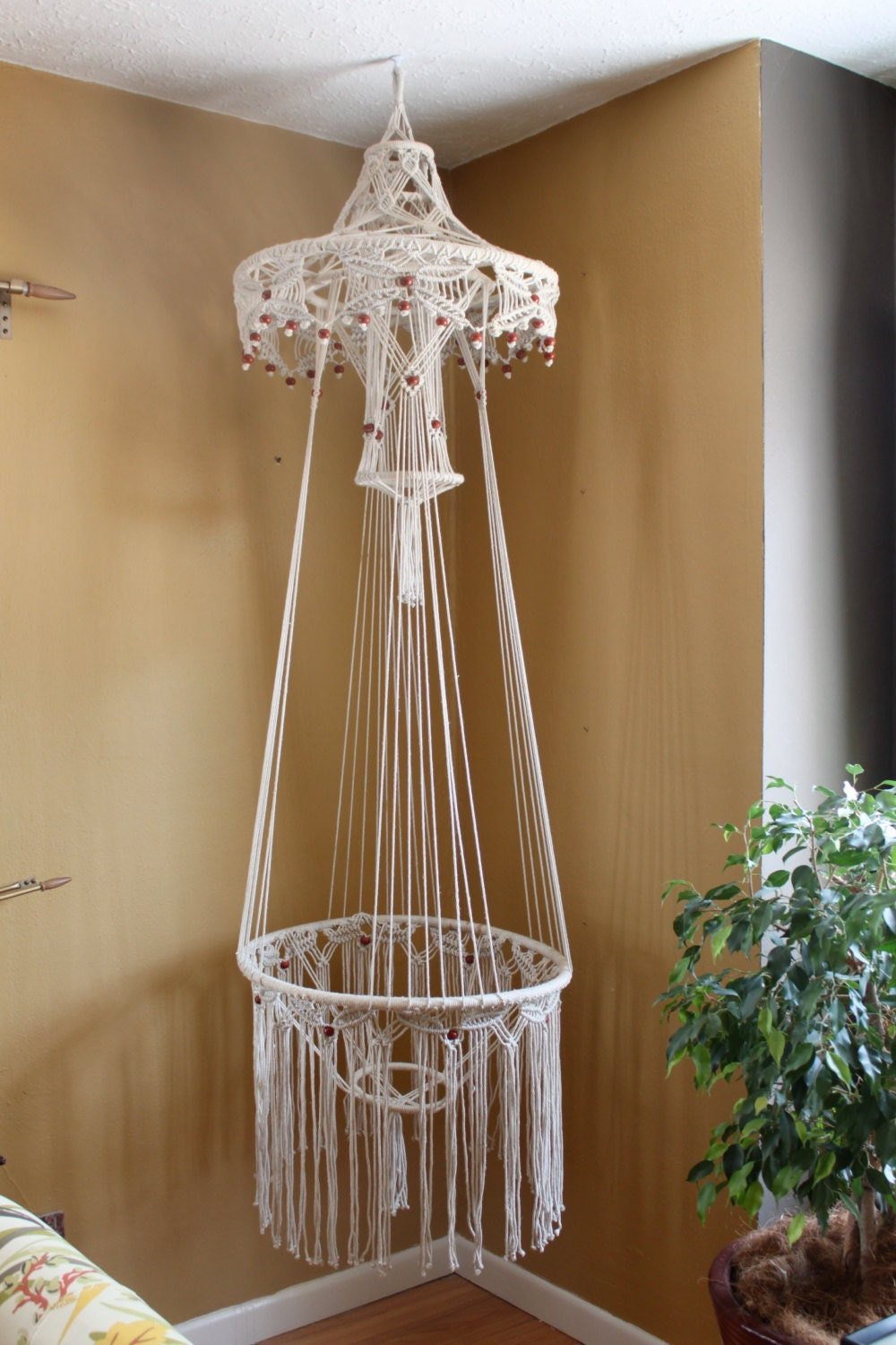 macrame hanging tables 70s hanging macrame planter table 8268