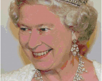 Queen Elizabeth Diamond Jubilee Counted Cross Stitch Pattern