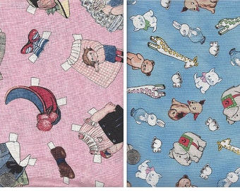 Sale! 23 fat quarters from Aunt Lindy's Paper Dolls