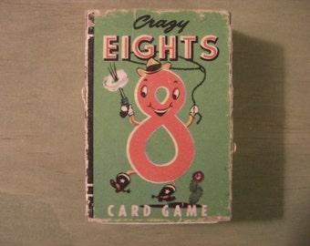 Vintage Whitman Crazy Eights Card Game**Free Shipping