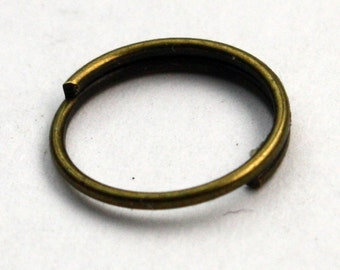 SALE Sale 200 pcs of antiqued brass jumpring 10mm - Jump Ring - 1.5 turn Split Ring