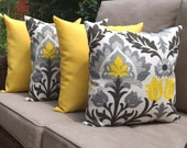 Santa Maria Licorice and Sundeck Yellow Solid Outdoor Throw Pillow - Set of 4 - Free Shipping