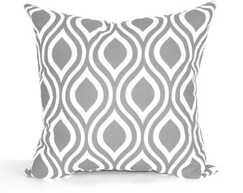 Premier Prints Nicole Storm Grey and White Ogee Decorative Throw Pillow Free Shipping