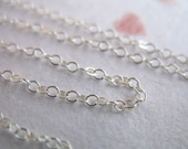 10% Off Sale.. Sterling Silver Chain, Flat Cable Chain, 2x1.5 mm, by the foot 5 10 20 30 50 100 500 1000 feet, ss s88 hp wf tpc