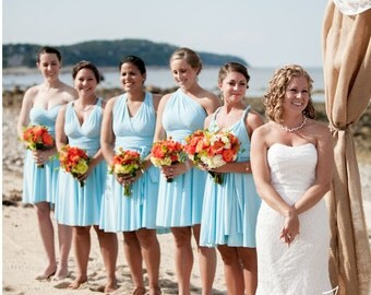 USA, Convertible Dresses for Bridesmaids /  Infinity DReSs/ Blue dresses